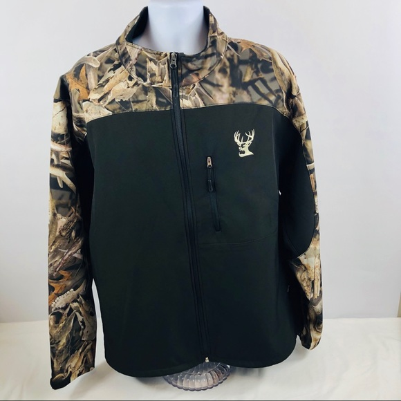 Admirable Buck Wear Mens Black Bonz Camo Soft Shell Jacket Caraccident5 Cool Chair Designs And Ideas Caraccident5Info